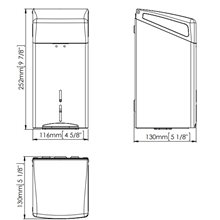 Dispensador toallitas higiénicas gris Mediclinics