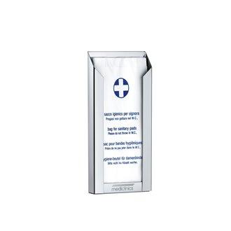 Dispensador bolsas higiénicas gris Mediclinics