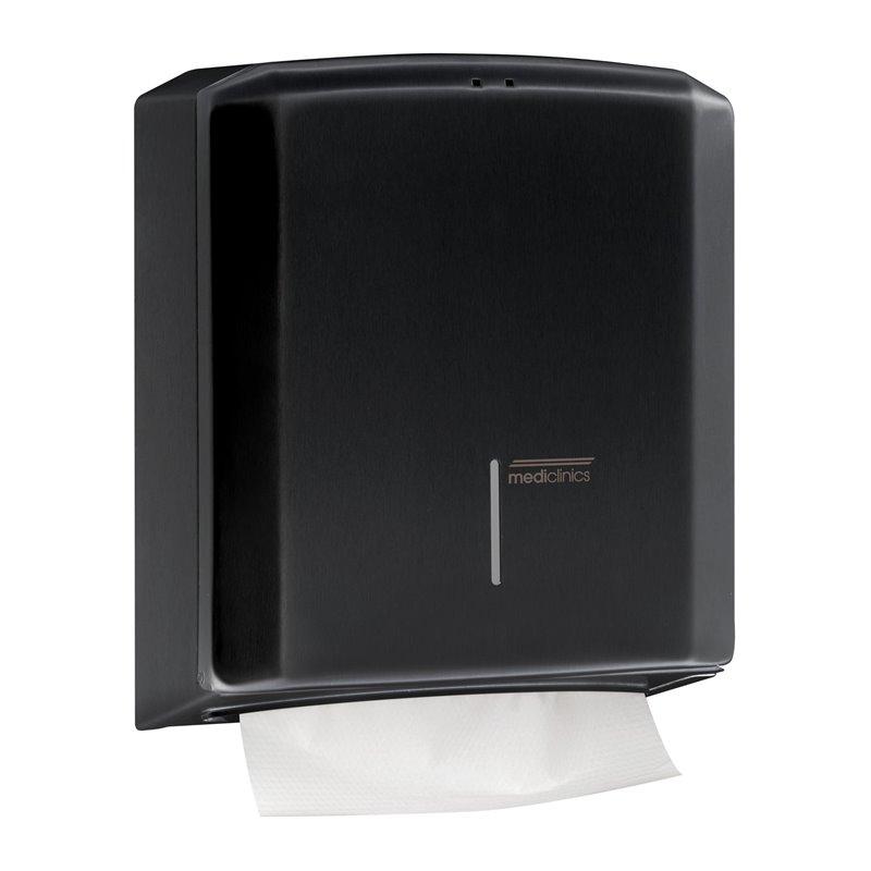 Dispensador 400/600 toallas negro Mediclinics
