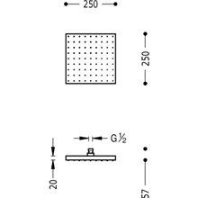 Rociador ducha cuadrado 25 x 25 TRES