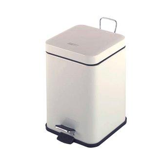 Papelera cuadrada pedal 6L blanco Mediclinics