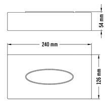 Dispensador pañuelos gris Medisteel Mediclinics