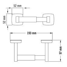 Portarrollos gris horizontal Medisteel Mediclinics