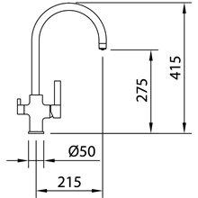 Grifo de fregadero Osmosis Square