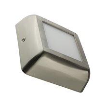 Plafón LED techo cuadrado 12x12x4cm 6W plateado
