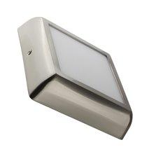 Plafón LED techo cuadrado 17x17x4cm 12W plateado