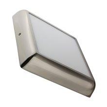 Plafón LED techo cuadrado 22x22x4cm 18W plata