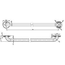 Barra recta 84cm satinado Medinox Mediclinics