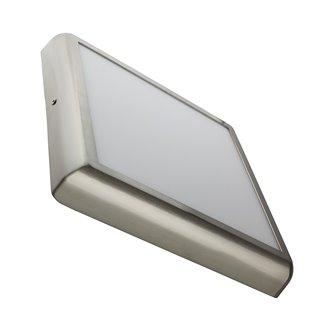 Plafón LED techo cuadrado 30x30x4cm 24W plata