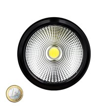 Plafón LED de techo redondo Ø11x6cm 12W negro