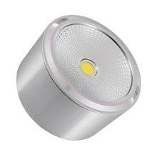 Plafón LED de techo redondo Ø11x6cm 12W plata