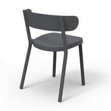 Juego de 2 sillas con brazos gris oscuro Casino Resol