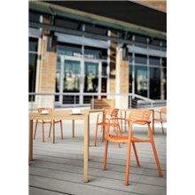 Set de 2 sillas naranja Toledo Aire Resol