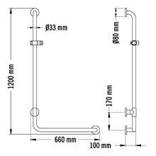 Asidero De En L 94x68 Grohe 40797001 Cm Essentials Bañera cLS34ARj5q