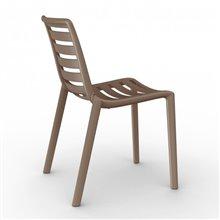 Juego de 2 sillas chocolate Slatkat Resol
