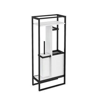 Mueble con escobillero blanco y negro the grid COSMIC