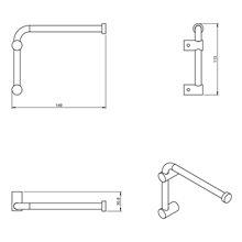 Portarrollo/toallero giratorio logic COSMIC