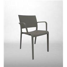 Pack de 2 sillas con brazos gris New Fiona Resol