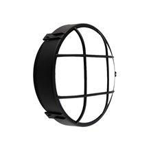 Plafón LED rejilla circular IP44 Ø22x9cm negro