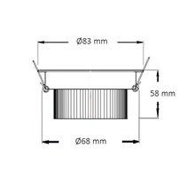 Foco LED circular direccionable Ø8'3x6cm 3W blanco