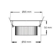 Foco LED circular direccionable Ø6'5x5cm 3W plata
