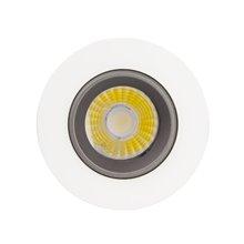 Foco LED circular direccionable Ø8'8x6cm 3W negro