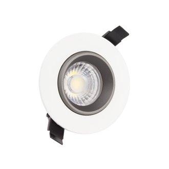 Foco LED circular direccionable Ø8'8x6cm 5W negro