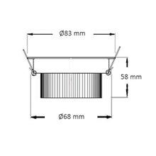 Foco LED circular direccionable Ø8'3x6cm 7W blanco