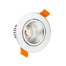 Foco LED circular direccionable Ø8'5x5'5cm 7W plata