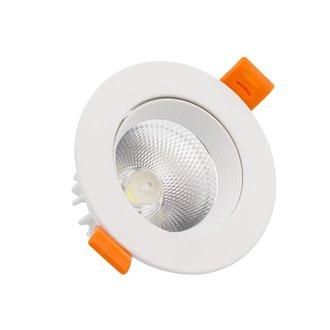 Foco LED circular direccionable Ø11'5x7'5cm 12W blanco