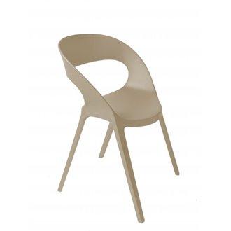 Set de 2 sillas apilables arena Carla Resol