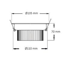 Foco LED circular direccionable Ø13'5x7cm 18W plata