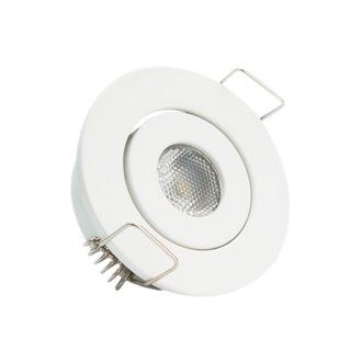 Foco LED circular direccionable Ø5'3x2'5cm 1W blanco