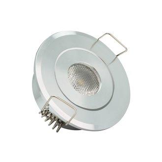 Foco LED circular direccionable Ø5'3x2'5cm 1W plata
