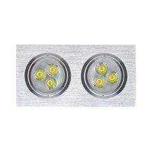 Foco LED direccionable 17'5x9'2x4'2cm 6W plata