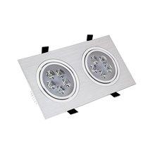 Foco LED direccionable 23x12x7cm 10W plata