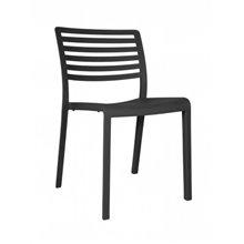 Conjunto de 2 sillas gris oscuro Lama Resol