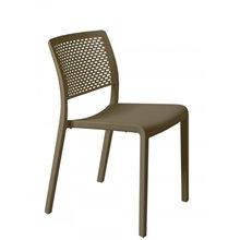 Conjunto de 2 sillas apilables chocolate Trama Resol