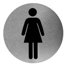 Señal color negro baño para mujeres Mediclinics