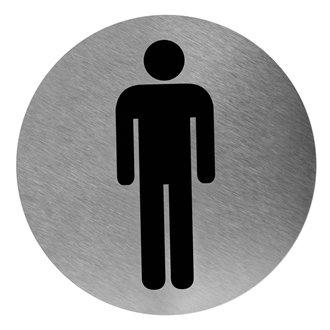 Señal color negro baño para hombres Mediclinics