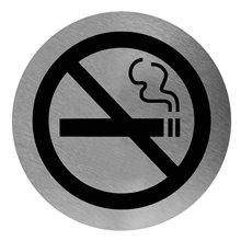 Señal color negro prohibido fumar Mediclinics
