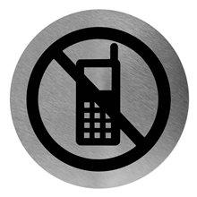 Señal color negro prohibido usar móvil Mediclinics