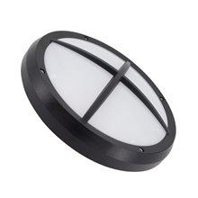 Plafón LED rejilla redondo IP65 Ø30x10cm negro