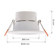 Foco Downlight LED UGR19 Ø10'5x5'5cm 6W