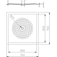 Plato de ducha fibra de vidrio blanco Mediclinics