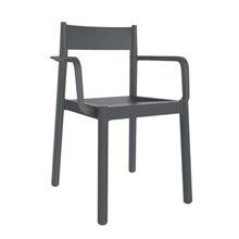 Set de 4 sillas con brazos gris oscuro Danna Resol