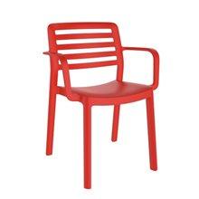 Pack de 4 sillas rojas con brazos Wind Resol