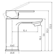 Grifo de lavabo Cherokee negro Llavisan