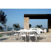 Set de 4 sillas con brazos blancas Ona Resol