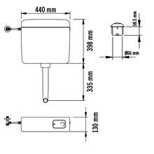Cisterna baja doble pulsador Mediclinics
